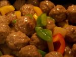 chinese food - Beef Meatball in Pineapple Sauce